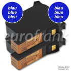 eurofrank ink cartridge set blue for Francotyp-Postalia ultimail blue series (NetSet2) franking machine