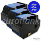 eurofrank 3-pack ribbon cartridge blue for Francotyp-Postalia optimail 30 series (NetSet2) franking machine